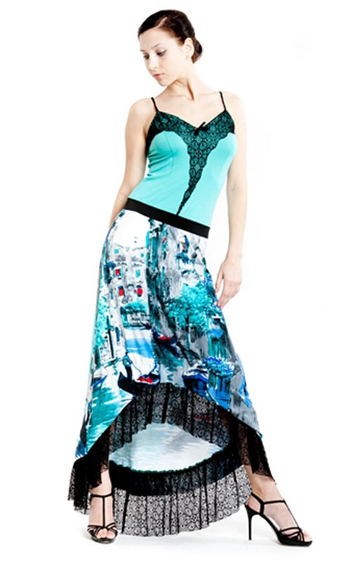 Платье мятного цвета